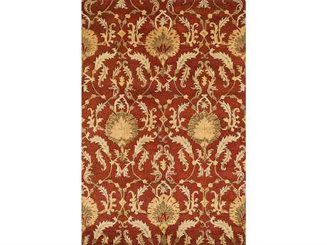 Loloi Fulton Transitional Orange Hand Made Wool Damask 3'6'' x 5'6'' Area Rug - FULTFT-06PA003656