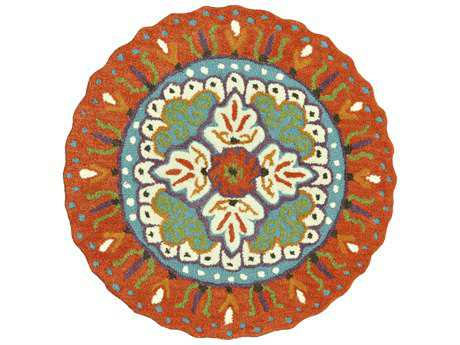 Loloi Gardenia Transitional Orange Hand Made Wool Floral/Botanical Area Rug - GARDHGA05ORIV300R-ROU