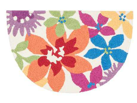 Loloi Angelou Transitional Orange Hand Made Synthetic Floral/Botanical Area Rug - HAN12-IVML-HEA