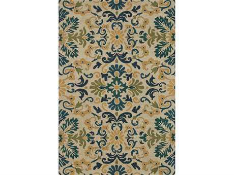 Loloi Fairfield Traditional Blue Hand Made Wool Floral/Botanical 5'0'' x 7'6'' Area Rug - FAIRHFF17BBTE5076