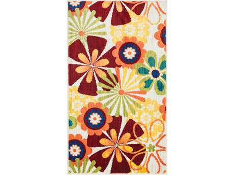 Loloi Isabelle Modern Beige Machine Made Synthetic Floral/Botanical 1'7'' x 2'6'' Area Rug - ISBEHIS01IVML1726