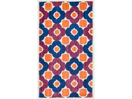 Loloi Isabelle Modern Pink Machine Made Synthetic Floral/Botanical 1'7'' x 2'6'' Area Rug - ISBEHIS02PIML1726