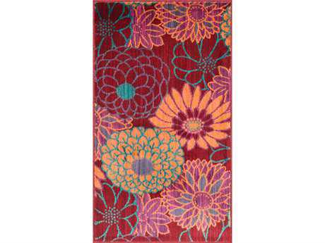 Loloi Isabelle Modern Red Machine Made Synthetic Floral/Botanical 1'7'' x 2'6'' Area Rug - ISBEHIS05REML1726