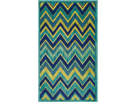 Loloi Isabelle Modern Green Machine Made Synthetic Chevron 1'7'' x 2'6'' Area Rug - ISBEHIS07GRML1726