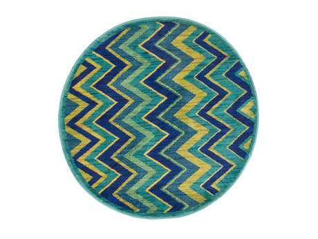 Loloi Isabelle Modern Green Machine Made Synthetic Chevron Area Rug - HIS07-GRML-ROU