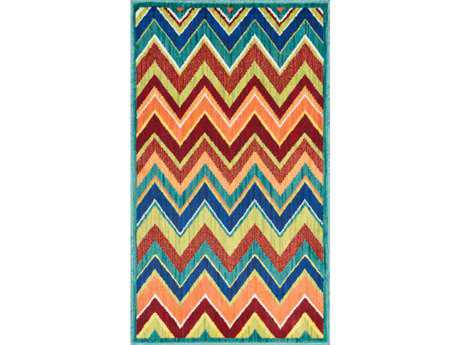 Loloi Isabelle Modern Teal Machine Made Synthetic Chevron 1'7'' x 2'6'' Area Rug - ISBEHIS07TEML1726