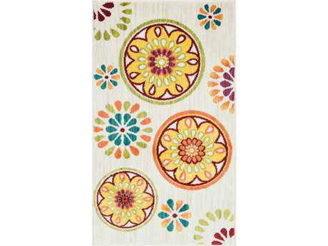 Loloi Isabelle Modern Beige Machine Made Synthetic Floral/Botanical 1'7'' x 2'6'' Area Rug - ISBEHIS08IVML1726