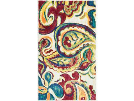 Loloi Isabelle Modern Beige Machine Made Synthetic Paisley 1'7'' x 2'6'' Area Rug - ISBEHIS10IVML1726