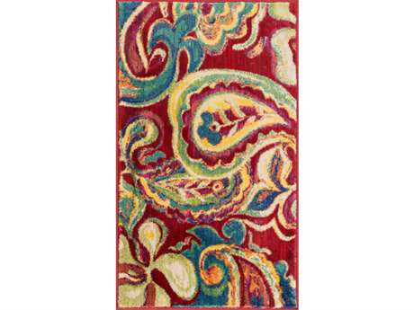 Loloi Isabelle Modern Red Machine Made Synthetic Paisley 1'7'' x 2'6'' Area Rug - ISBEHIS10REML1726