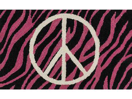Loloi Skylar Transitional Pink Hand Made Wool Animals/Animal Print Area Rug - HSK02-PIIV-REC