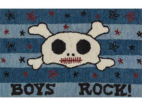 Loloi Skylar Transitional Blue Hand Made Wool Graphic Area Rug - HSK05-BB-REC