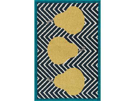 Loloi Tilley Modern Blue Machine Made Synthetic Graphic 2'5'' x 3'9'' Area Rug - TILLHTI02NVGR2539