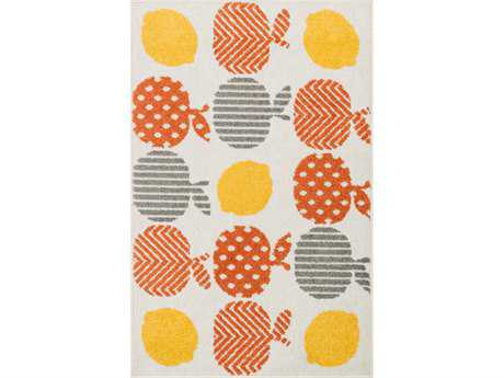 Loloi Tilley Modern Orange Machine Made Synthetic Graphic 2'5'' x 3'9'' Area Rug - TILLHTI03ORML2539