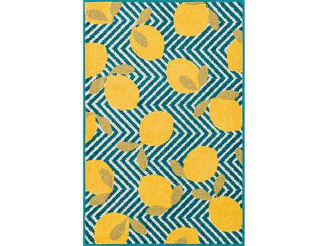 Loloi Tilley Modern Blue Machine Made Synthetic Graphic 2'5'' x 3'9'' Area Rug - TILLHTI05BBYE2539