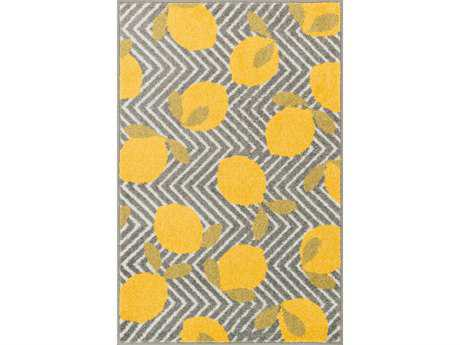 Loloi Tilley Modern Yellow Machine Made Synthetic Graphic 2'5'' x 3'9'' Area Rug - TILLHTI05GYYE2539