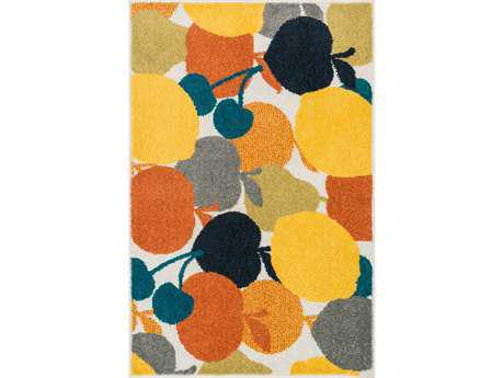 Loloi Tilley Modern Yellow Machine Made Synthetic Graphic 2'5'' x 3'9'' Area Rug - TILLHTI07ML002539
