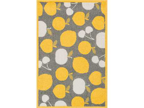 Loloi Tilley Modern Yellow Machine Made Synthetic Graphic 2'5'' x 3'9'' Area Rug - TILLHTI08GYYE2539