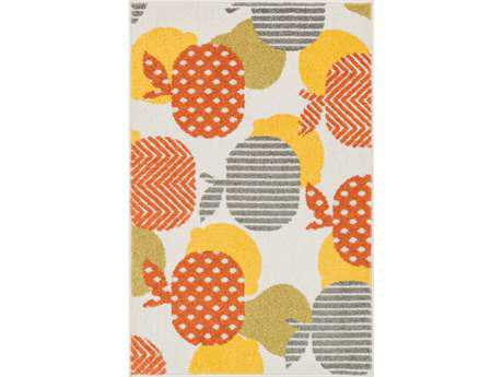 Loloi Tilley Modern Orange Machine Made Synthetic Graphic 2'5'' x 3'9'' Area Rug - TILLHTI09IVOR2539