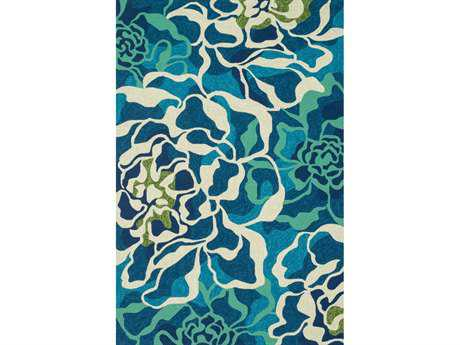Loloi Ventura Transitional Teal Hand Made Synthetic Abstract 2'3'' x 3'9'' Area Rug - VENTHVT01AQML2339