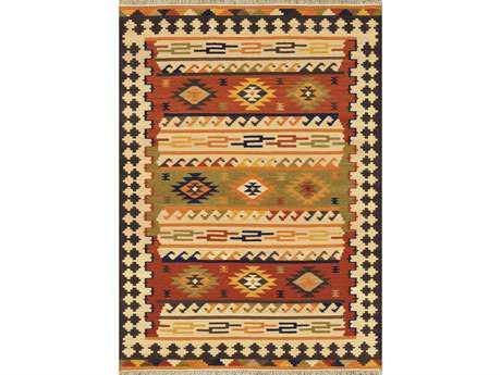 Loloi Isara Traditional Brown Flatweave Wool Southwestern 3'6'' x 5'6'' Area Rug - ISARIA-02ML003656