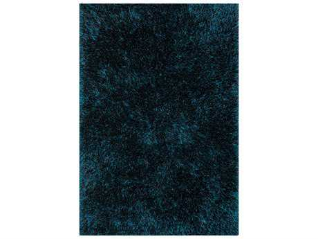 Loloi Linden Shag Shag Blue Hand Made Synthetic Solid 3'6'' x 5'6'' Area Rug - LINDLI-02PX003656