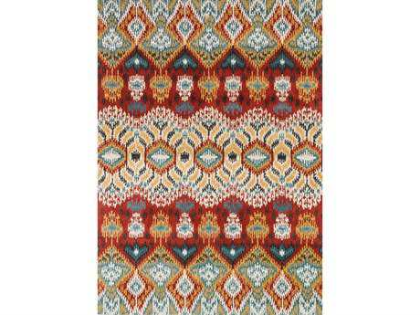 Loloi Leyda Transitional Red Hand Made Wool Abstract 3'6'' x 5'6'' Area Rug - LEYDLY-03REML3656