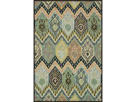 Loloi Mayfield Transitional Green Hand Made Wool Abstract 3'6'' x 5'6'' Area Rug - MAYFMF-09ML003656
