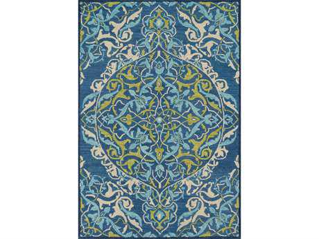 Loloi Mayfield Transitional Blue Hand Made Wool Floral/Botanical 3'6'' x 5'6'' Area Rug - MAYFMF-16BBLL3656