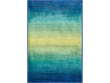 Loloi Madeline Modern Blue Machine Made Synthetic Stripes 2'0'' x 3'0'' Area Rug - MADEMZ-01WE002030