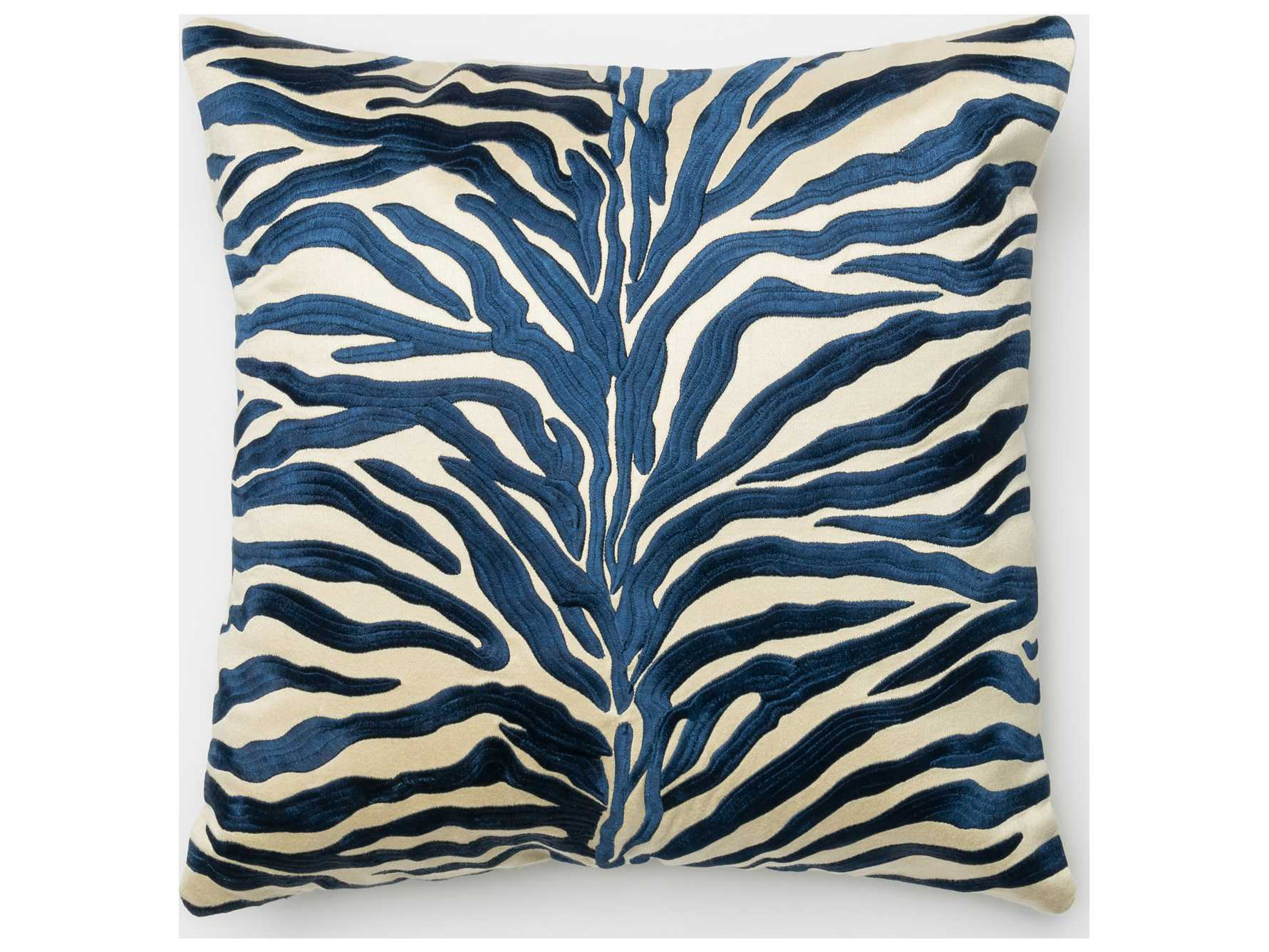 Loloi Rugs 18 39 39 Square Blue Pillow P0007bb00pil1