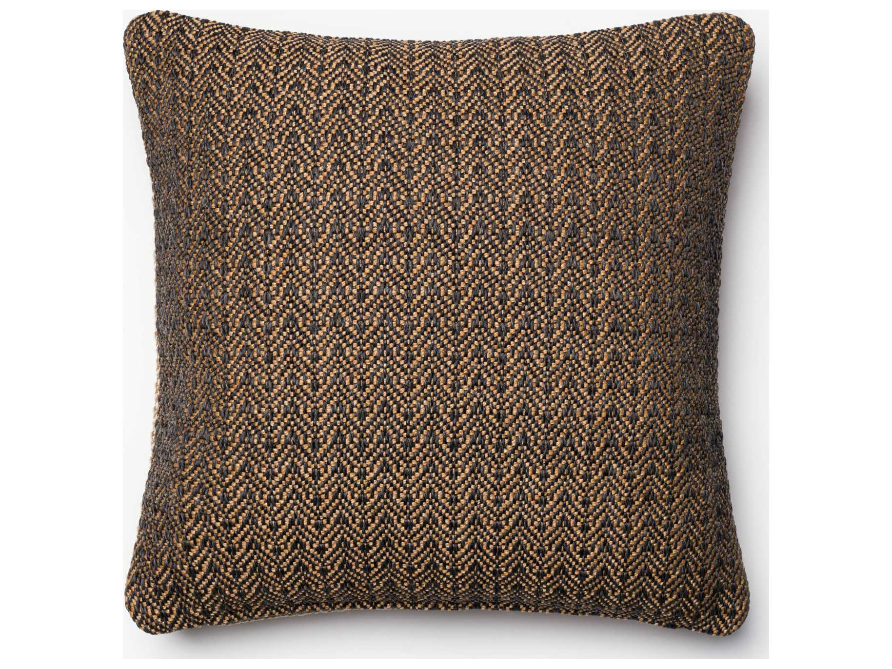 Loloi rugs 18 39 39 square black gold pillow p0061blgopil1 for Loloi pillows