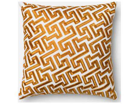 Loloi Rugs 18'' Square Gold Pillow (Sold in 4) Down - DSETP0077GO00PIL1