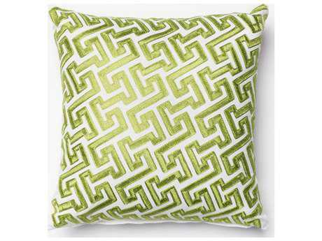 Loloi Rugs 18'' Square Green Pillow (Sold in 4) Down - DSETP0077GR00PIL1