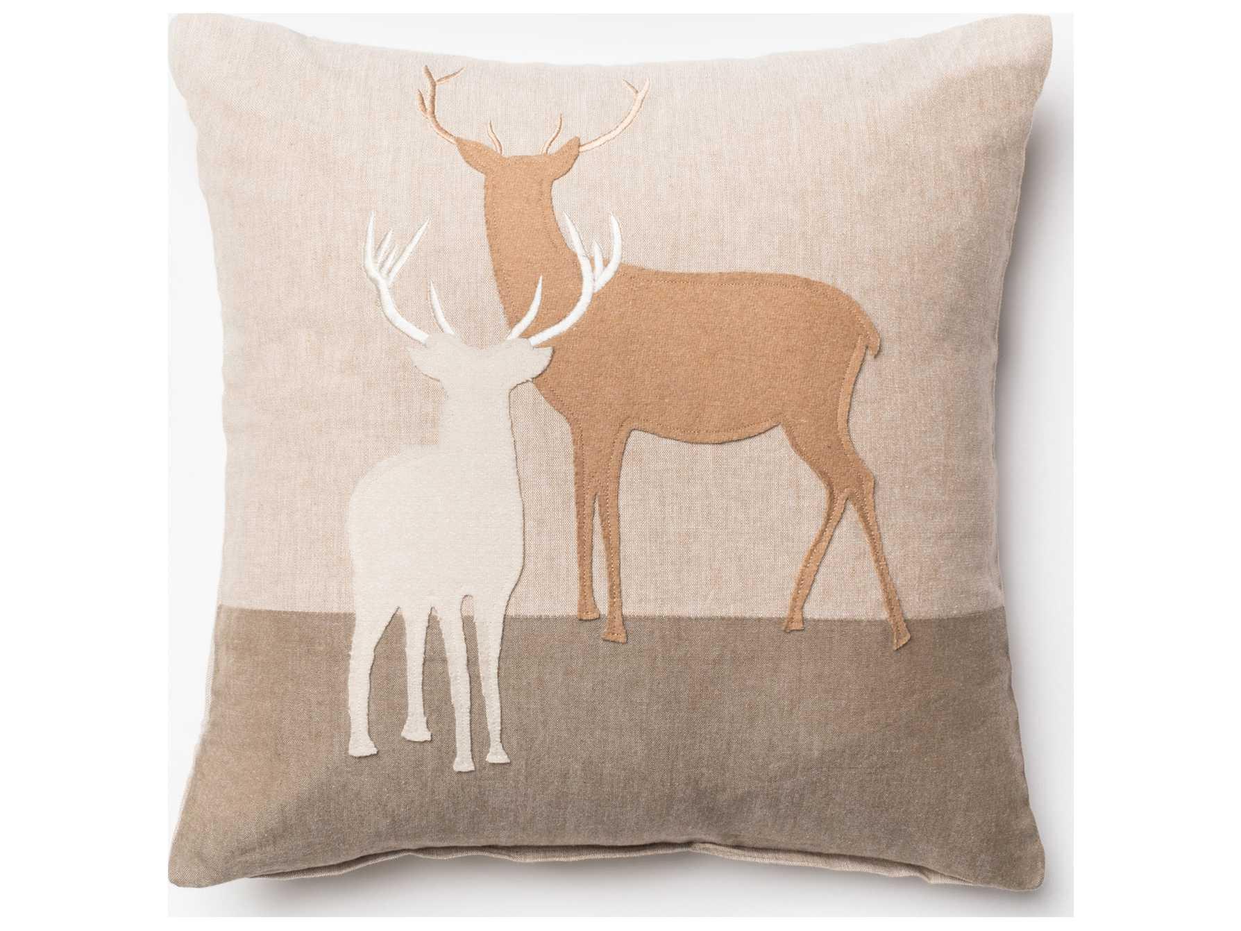 Loloi Rugs 18 39 39 Square Beige Pillow P0151bemlpil1