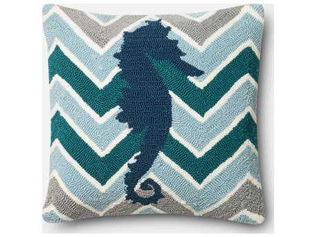 Loloi Rugs 18'' Square Teal Pillow (Sold in 4) Down - DSETP0357TEMLPIL1
