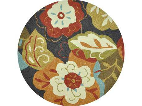 Loloi Summerton Transitional Black Hand Made Synthetic Floral/Botanical Area Rug - SRS03-BLML-ROU