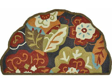 Loloi Summerton Transitional Black Hand Made Synthetic Floral/Botanical Area Rug - SRS03-BLML-SCH