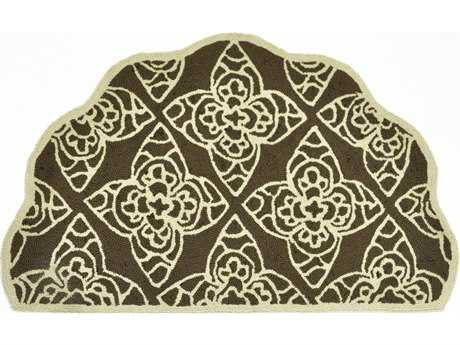 Loloi Rugs Summerton 2 3 X 3 9 Scalloped Hearth Brown