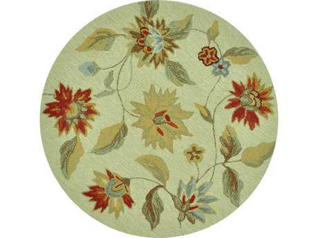 Loloi Summerton Transitional Beige Hand Made Synthetic Floral/Botanical Area Rug - SRS06-IVRE-ROU