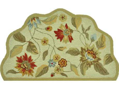 Loloi Summerton Transitional Beige Hand Made Synthetic Floral/Botanical Area Rug - SRS06-IVRE-SCH