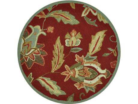 Loloi Summerton Transitional Red Hand Made Synthetic Floral/Botanical Area Rug - SRS07-RE-ROU