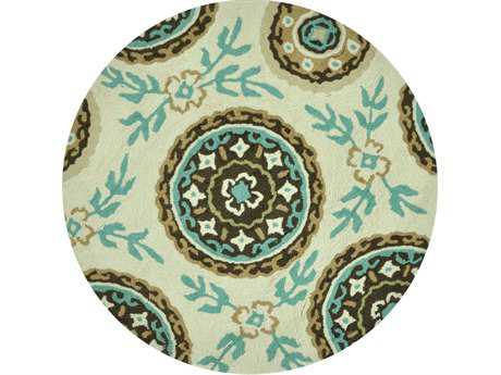 Loloi Summerton Transitional Teal Hand Made Synthetic Floral/Botanical Area Rug - SRS08-IVTE-ROU
