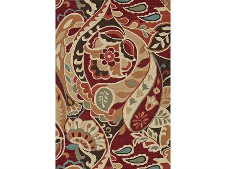 Loloi Summerton Transitional Red Hand Made Synthetic Floral/Botanical 2'3'' x 3'9'' Area Rug - SUMRSRS09REML2339