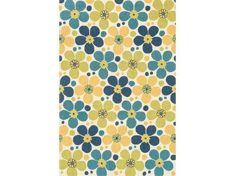 Loloi Summerton Transitional Blue Hand Made Synthetic Floral/Botanical Hearth 2'3'' x 3'9'' Area Rug - SUMRSRS16IVBB234H