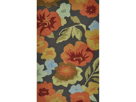 Loloi Summerton Transitional Brown Hand Made Synthetic Floral/Botanical 2'3'' x 3'9'' Area Rug - SUMRSSC02DBFB2339
