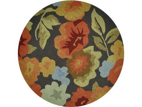 Loloi Summerton Transitional Brown Hand Made Synthetic Floral/Botanical Area Rug - SSC02-DBFB-ROU