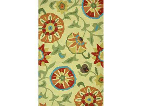 Loloi Summerton Transitional Green Hand Made Synthetic Floral/Botanical 2'3'' x 3'9'' Area Rug - SUMRSSC04KP002339