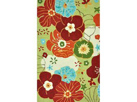 Loloi Summerton Transitional Green Hand Made Synthetic Floral/Botanical 2'3'' x 3'9'' Area Rug - SUMRSSC08LLML2339
