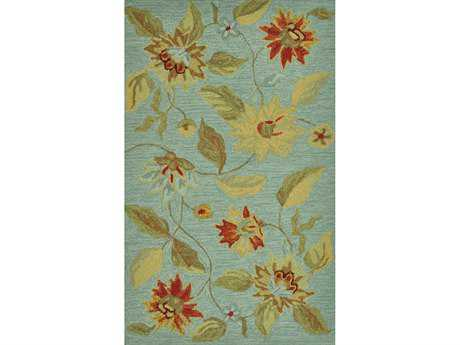 Loloi Summerton Transitional Blue Hand Made Synthetic Floral/Botanical 2'3'' x 3'9'' Area Rug - SUMRSSC15MI002339