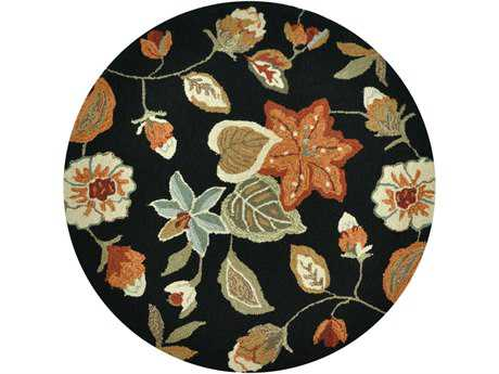 Loloi Summerton Transitional Black Hand Made Synthetic Floral/Botanical Area Rug - SSC19-BLRU-ROU